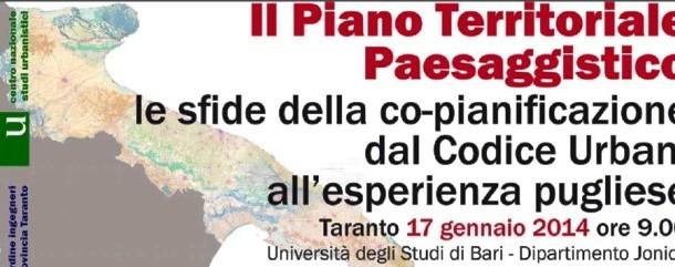"""AL VIA IL CONVEGNO SUL TEMA """"IL PIANO TERRITORIALE PAESAGGISTICO"""""""