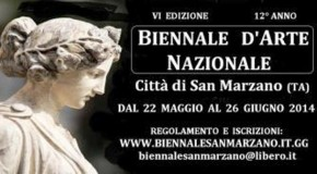 TUTTO PRONTO PER LA BIENNALE D'ARTE NAZIONALE CITTA' DI SAN MARZANO