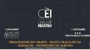 """TARANTO: AL VIA LA 1^ EDIZIONE DI """"CINEMA E' INDUSTRIA"""""""