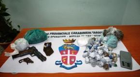 TARANTO: IN CASA CON ARMI E DROGA. ARRESTATO INCENSURATO