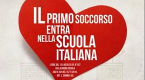 """""""DUE MANI SUL TORACE"""": IL 1^ SOCCORSO ENTRA NELLA SCUOLA ITALIANA"""