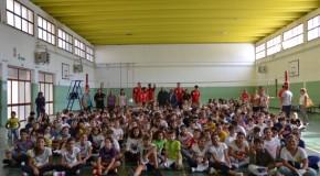 GLI STUDENTI DELLI'ISTITUTO ALFIERI HANNO INCONTRATO I GIOCATORI DEL CUS JONICO BASKET TARANTO