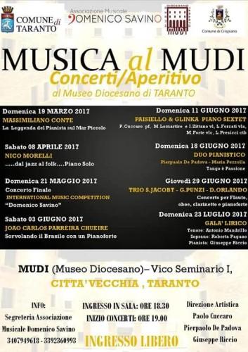 Musica al Mudi Concerti Aperitivo
